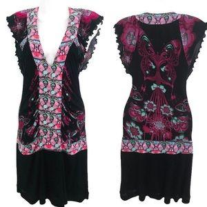 Custo Barcelona dress silk blend butterfly print